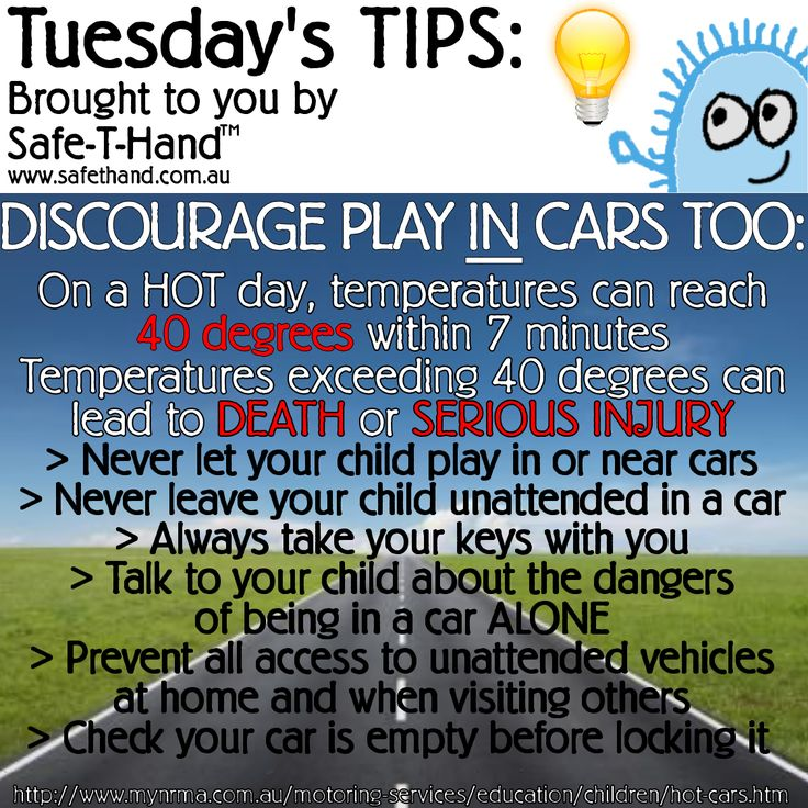 Road Safety Tip 'Discourage Play IN Cars Too'  For more tips, competition pre-entry, discounts + more - Join our newsletter: www.safethand.com.au #road #safety #tips #safethand #fundraise #educate #child #pedestrian #teach