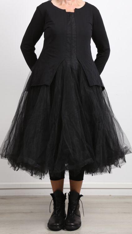 rundholz black label – Kleid mit Tüllrock schwarz – Winter 2018   – mode und ko…