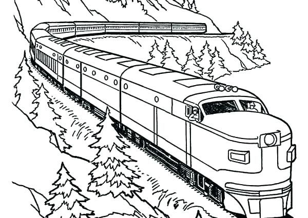 Printable Train Coloring Pages Ideas Train Coloring Pages Coloring Pages Dragon Coloring Page