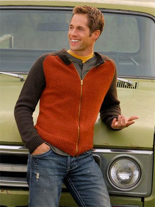 men's zip cardigan Design by Bobbi Intveld With a saddle shoulder and close-to-the-body fit, this classic zipper cardigan is updated with modern details. Made with Sport Weight & Melange yarns from Blue Sky Alpacas.