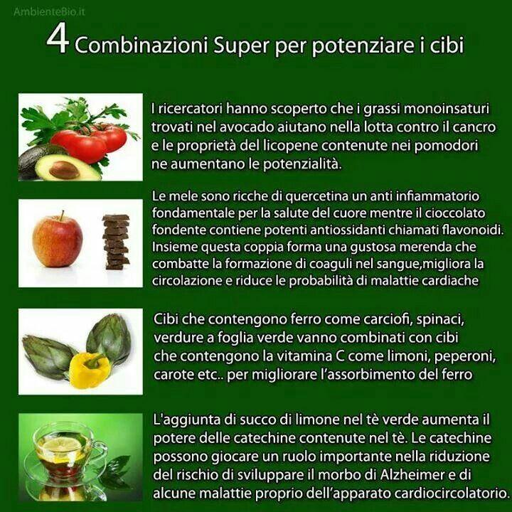 Alcuni consigli su come associare cibi e nutrienti per potenziare i loro effetti benefici!