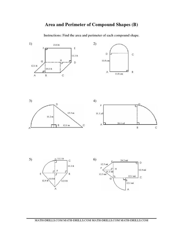 Area Of Composite Figures Worksheets | Worksheet & Workbook Site