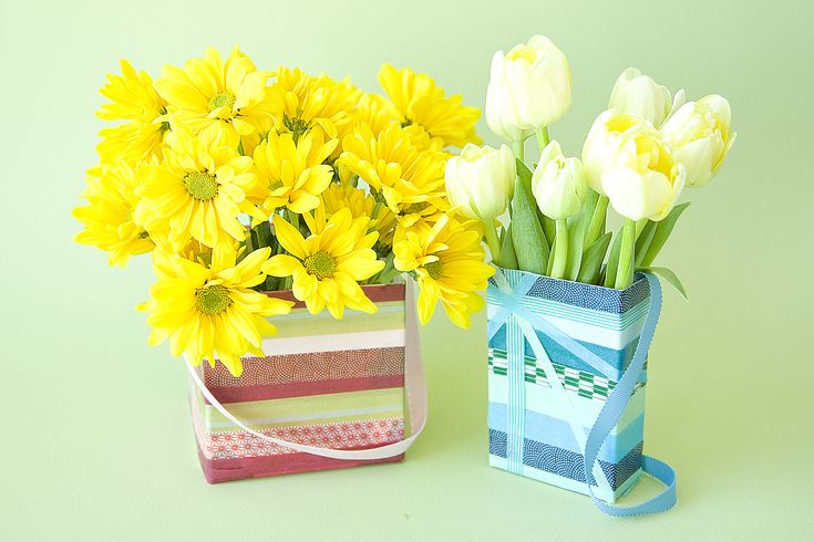 An easy project using decorative masking tape and recyclables.