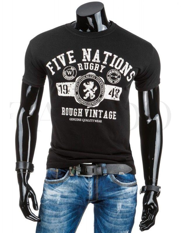 Pánské tričko - Five nations, černé