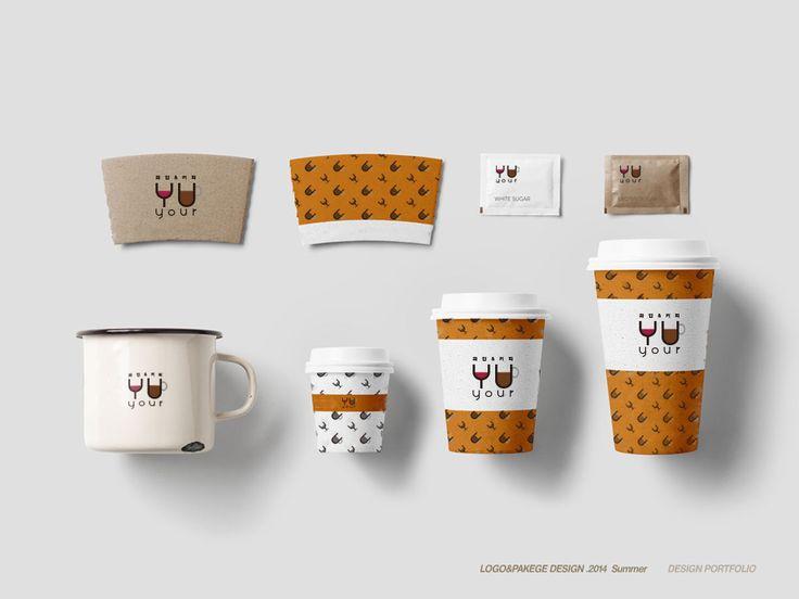 YOUR 커피숍 패키지, 커피숍 유리창 로고 그림자, 라벨, 컵홀더, 커피숍 테이크아웃