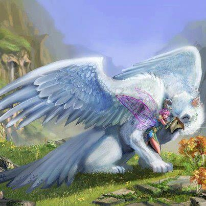 Hi! I'm Mia, and this is my pet griffin named Snowdrop. We've been a team since I can remember. She's my best friend and protector. I'm 19 years old and love to fly, but I ripped a wing and can't fly safely. I am a single fairy and ready to mingle!