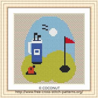 picture about Needlepoint Patterns Free Printable known as Golfing, No cost AND Uncomplicated PRINTABLE CROSS STITCH Behavior