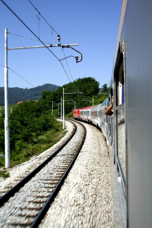 Discover all of Europe by train and the extensive rail network. Photo taken in Slovenia.