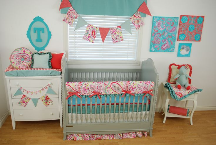 purple paisley crib bedding 2