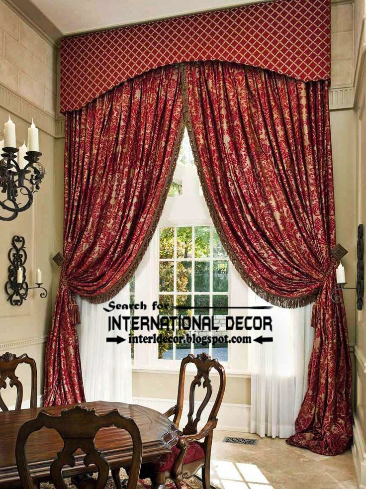 Classic Country Curtains For Dining Room, Burgundy Curtains, Floral  Patterned Curtain Part 42