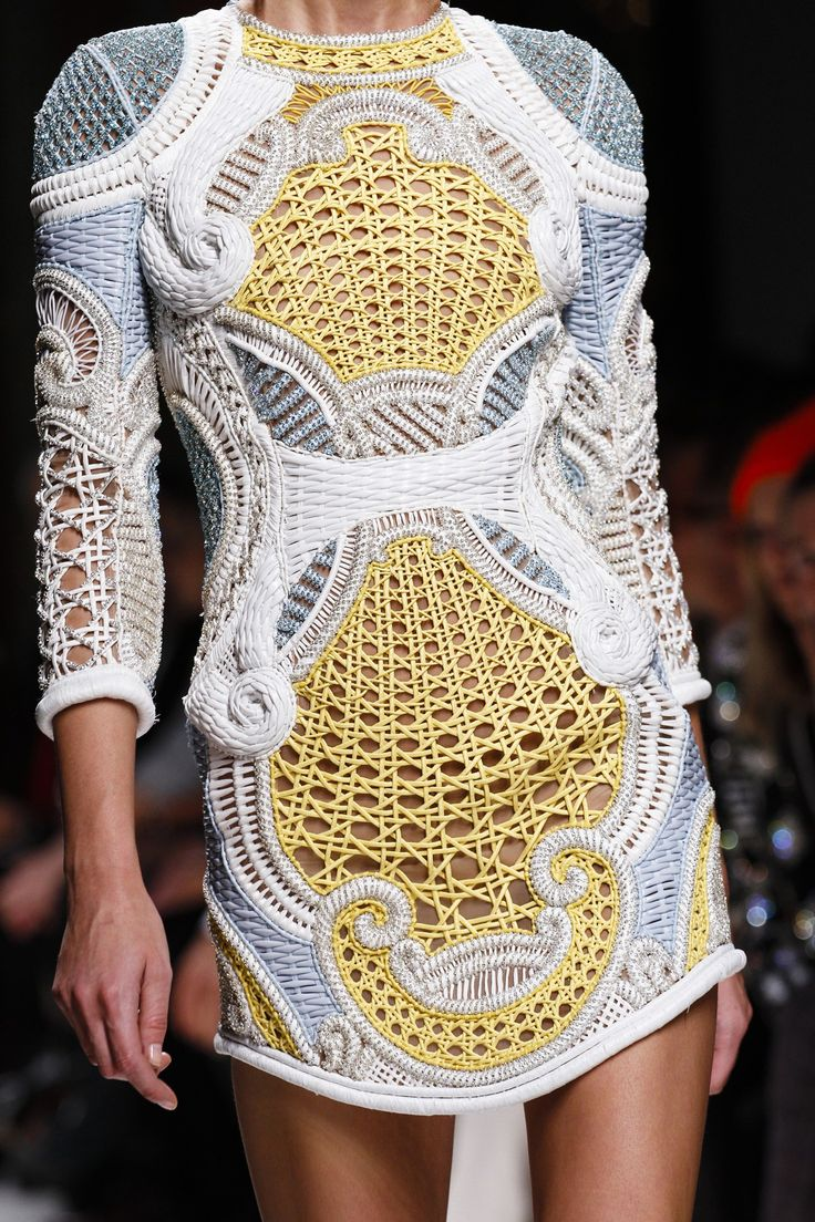 Balmain Spring/Summer 2013...possibly not any knitting or crochet there at all...but those crafts could be used