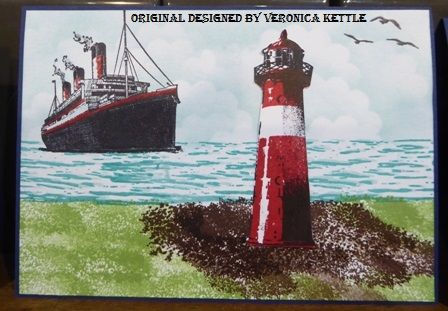 High Tide with Lighthouse by VeronicaK - Cards and Paper Crafts at Splitcoaststampers