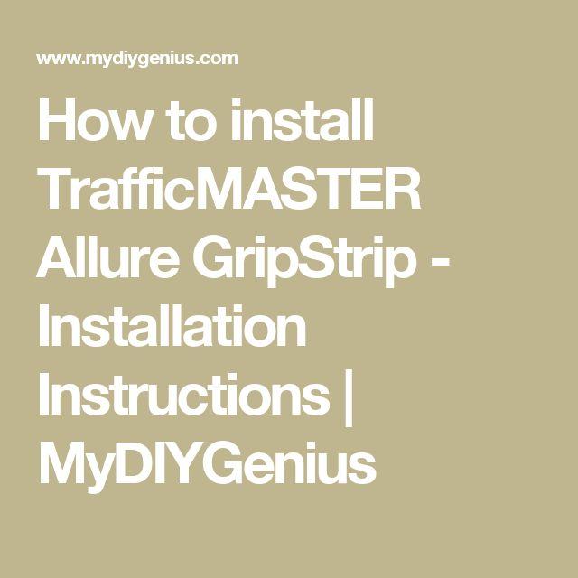 How to install TrafficMASTER Allure GripStrip - Installation Instructions | MyDIYGenius