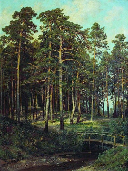 Мостик в лесу 1895 108х81. Иван Иванович Шишкин
