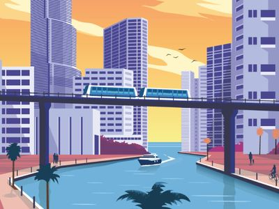 Airbnb Miami Travel Poster by Alex Asfour