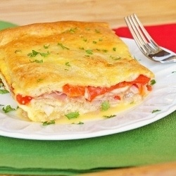 Italian Layer Bake...It's like a warm baked Italian sub, in casserole form!