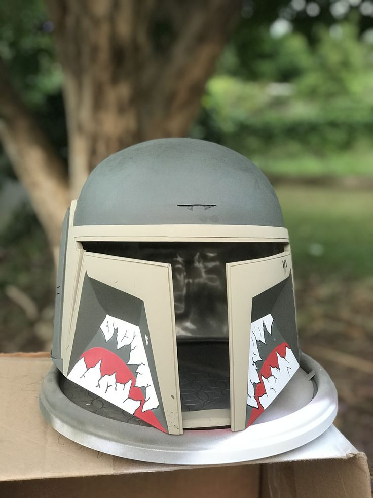Flying tigers teeth mandalorian assassin helmet nme props