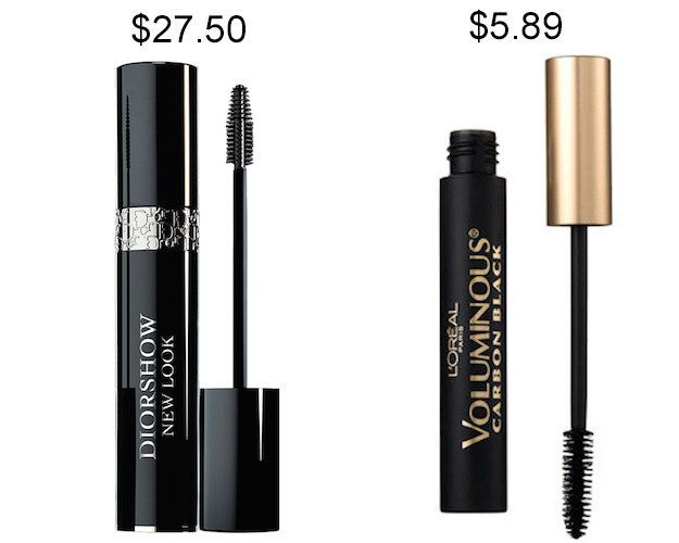 Try L'Oréal Paris Voluminous Carbon Black mascara instead of Diorshow and save about $21.