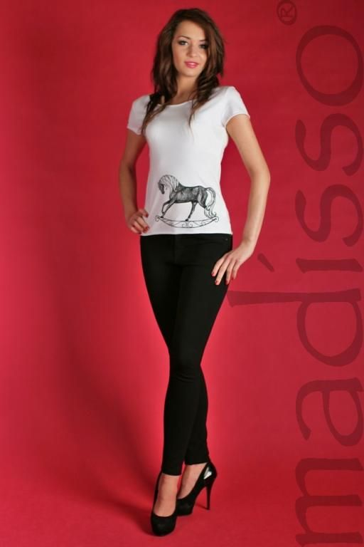 Koszulka z nadrukiem - koń na biegunach MADISSO M - od 1 zł BCM