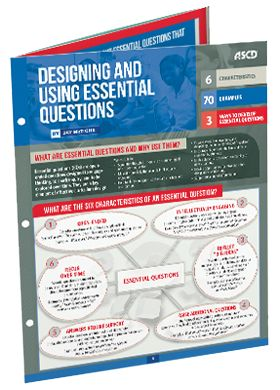 Packed with tips and examples of process questions to use in the classroom, this guide, by Jay McTighe, is a starting point for any teacher to learn how essential questions will benefit all students.