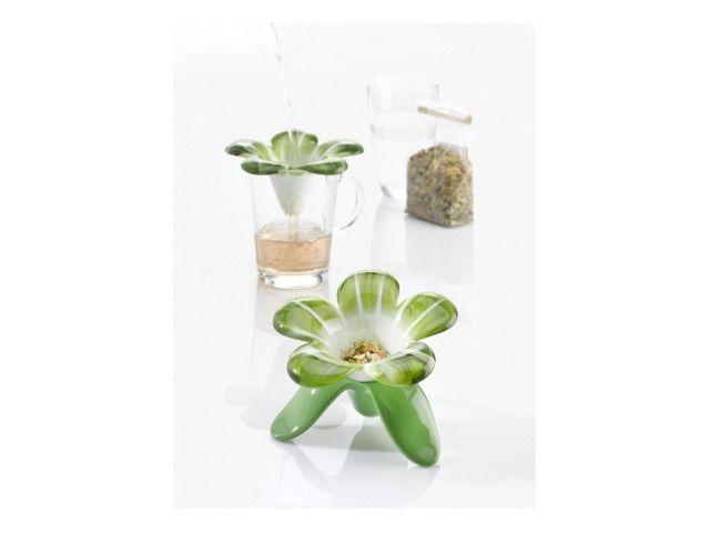 Koziol, Audrey, colino da tè - bianco & verde oliva