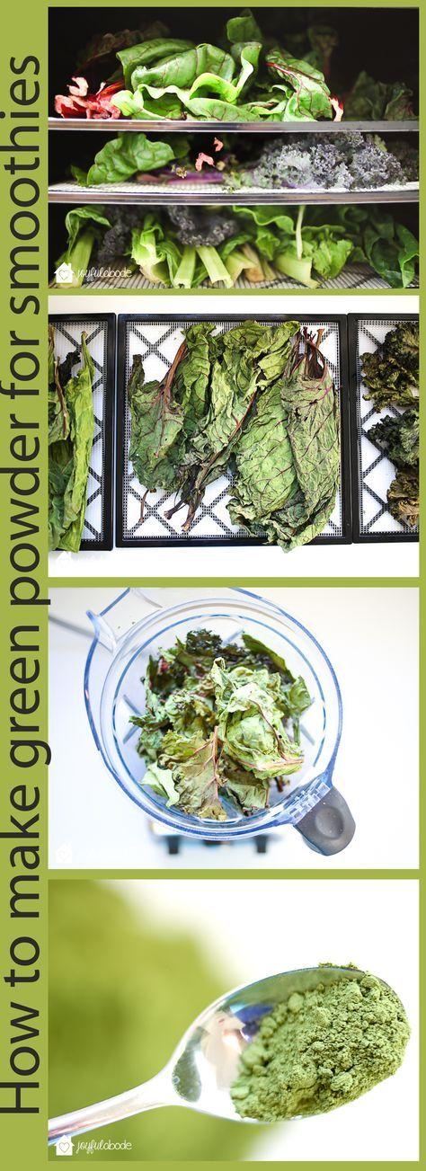 Wie man grünes Superfood-Pulver für Smoothies herstellt – perfekt, um …   – preserving