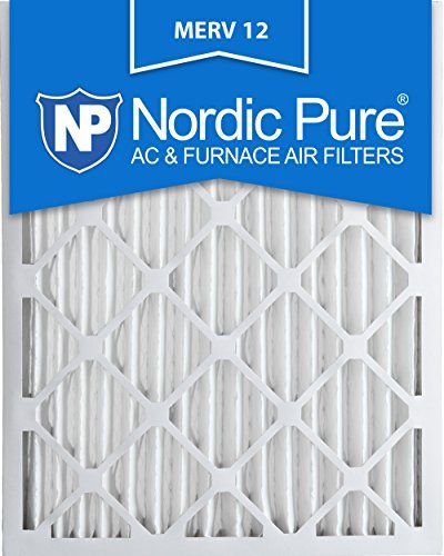 Nordic Pure 20x25x2M12-3 MERV 12 Pleated Air Condition Furnace Filter, Box of 3 - The Nordic Pure MERV 12 anti-allergen pleated air filter is the ideal filter to reduce airborne contaminants in your home or business. With each pass through your MERV 12 anti-allergen pleated air filter, the air in your environment improves. This electrostatic air filter attracts and captures ai...