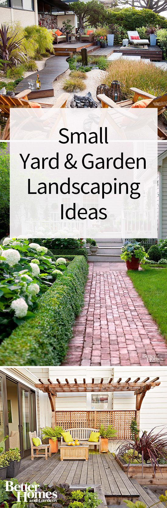 These ideas are perfect for those working with a small yard or a small garden. Just because you have a small backyard, that doesn't mean your outdoor space can't feature a beautiful design. Use these DIY landscaping ideas to create the garden oasis of your dreams.