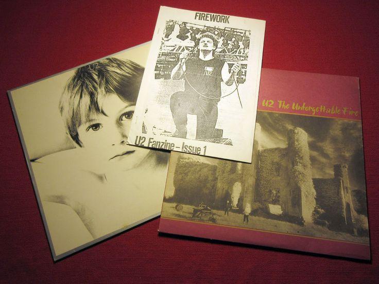 "Rare U2 fanzine + ""Boy"" and ""The Unforgettable Fire"" Ablums"