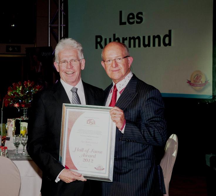 Receiving DSA Hall of Fame Award