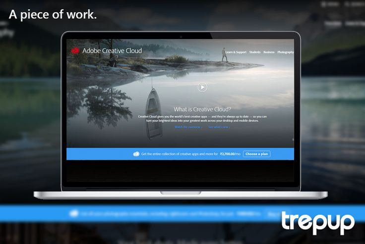 Bright ideas need creative apps. Creative Cloud by Adobe gives form to your thoughts. http://trepup.co/1TRbBN1