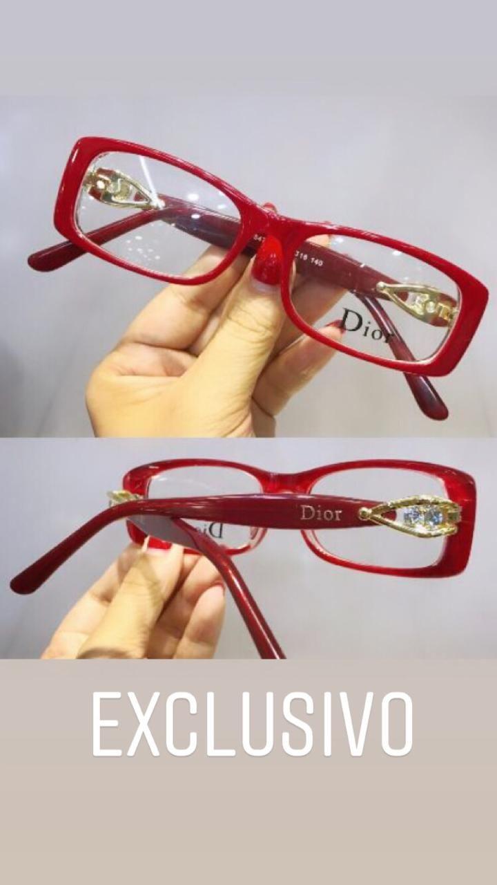 Oculos De Grau Armacao Vermelho Leitura Fino Com Pedras Em 2020