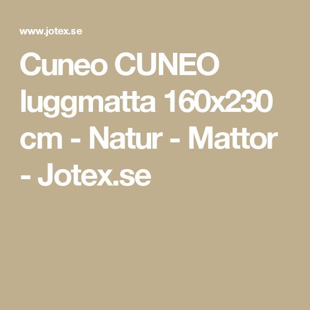 Cuneo CUNEO luggmatta 160x230 cm - Natur - Mattor - Jotex.se