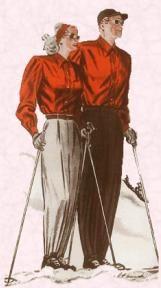 Windshirts for Skiwear 1947.