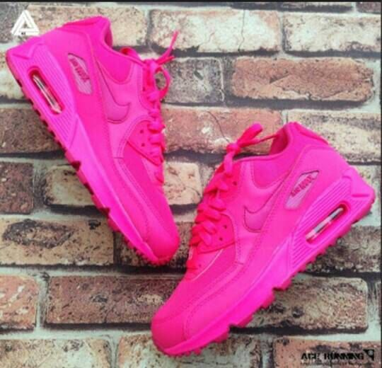 womens air max max 90 women,air max pink, 2014 New Nike Air Max 90 Womens  Shoes All Pink Red