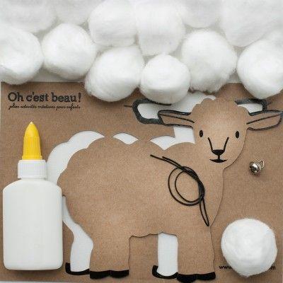 Une activité créative en carton kraft empreint de douceur pour les 4-5-6 et 7 ans
