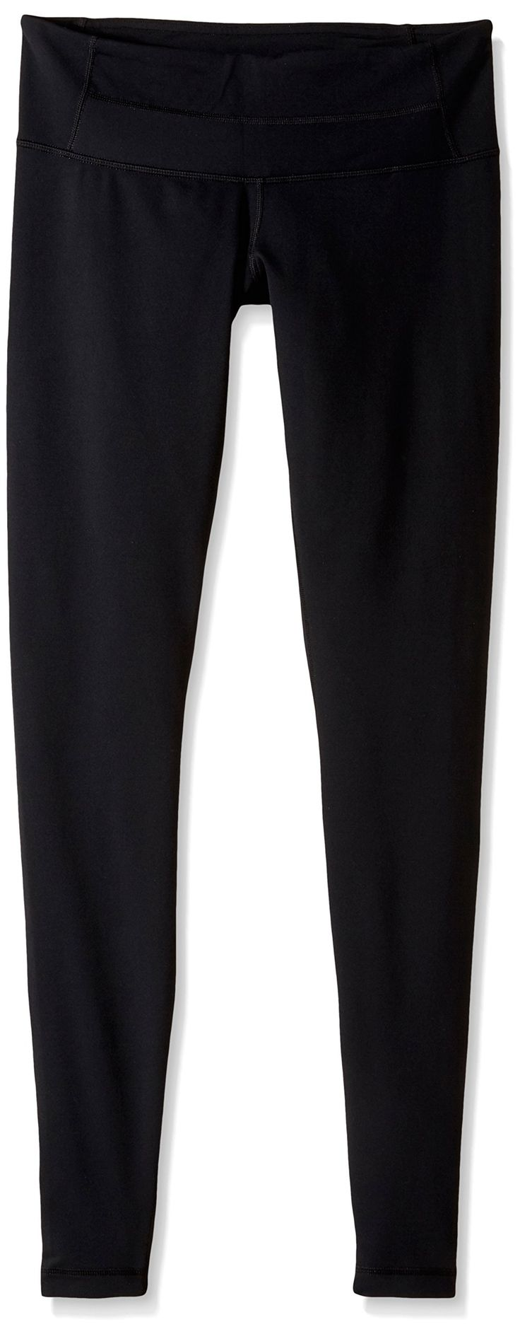 Columbia Sportswear Women's Halo Leggings, Black, 12xR. Striped jersey. Short sleeves. cotton-poly-blend fabric.