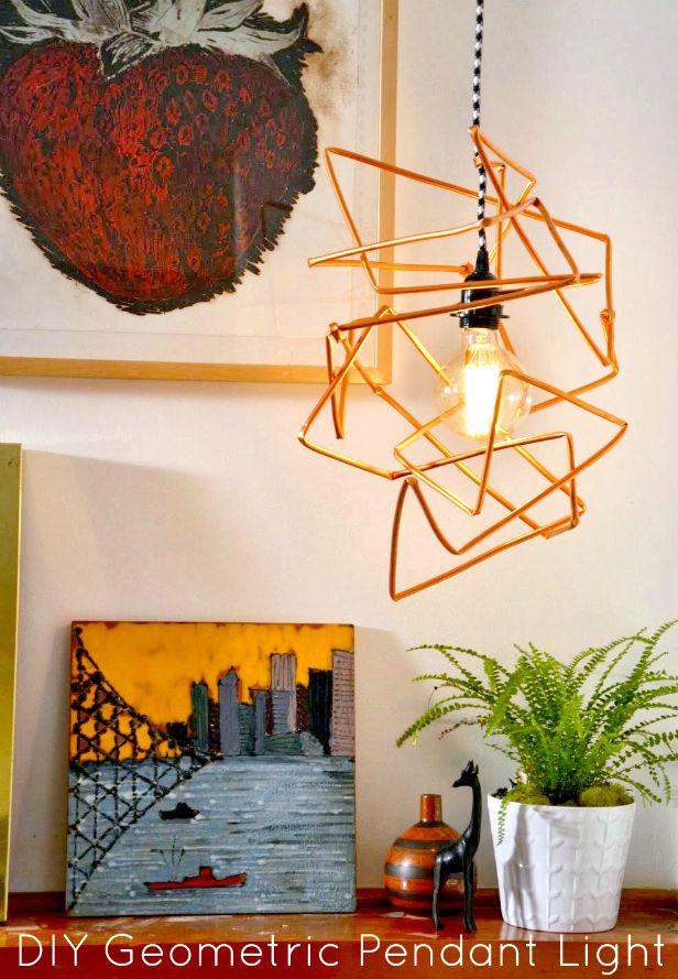 DIY Geometric Light Pendant