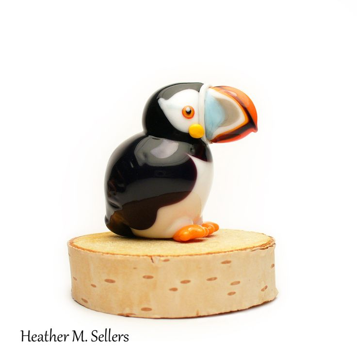 Heather Sellers Art Glass: Atlantic Puffin No.2