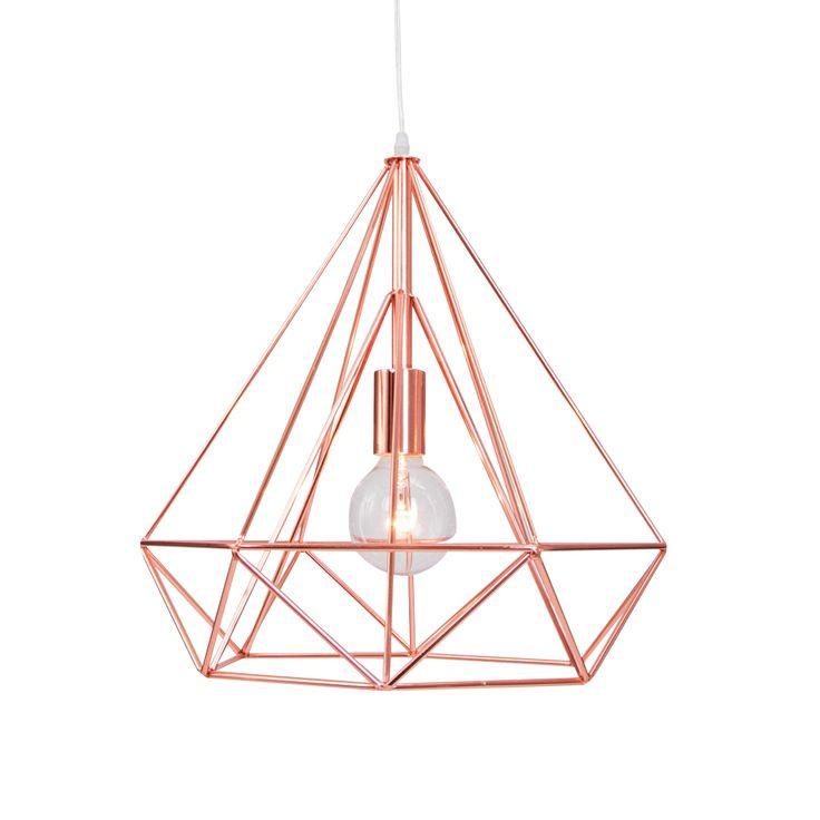 Een koperen hanglamp van metaal met een doorsnee van 38 cm. ✓ Achteraf betalen ✓ Morgen in huis ✓ Keurmerk