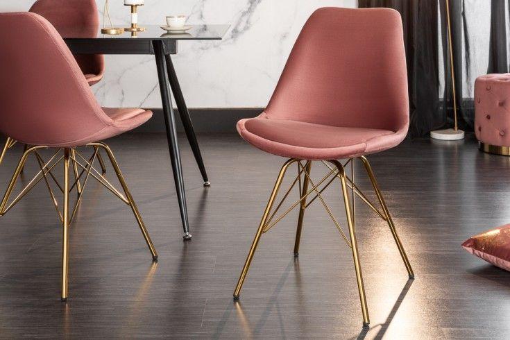 Design Stuhl Scandinavia Meisterstuck Samt Altrosa Goldene Beine Riess Ambiente De Stuhle Eames Stuhl Stuhl Design