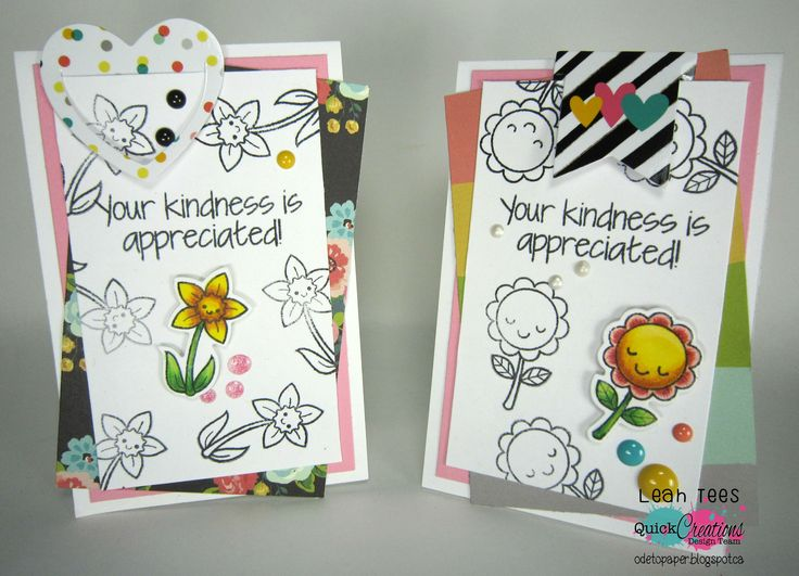 "Quick Creations Inspiration with Your Next Stamp's ""Plant Some Kindness"", August 2016, created by Leah Tees, odetopaper.blogspot.ca"