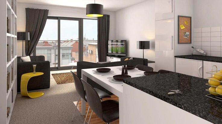 Soggiorno piccolo con angolo cottura living moderno con for Arredare soggiorno moderno piccolo