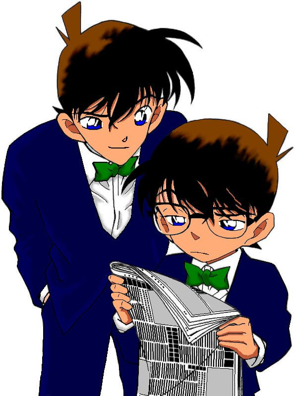 Why doesn't this show have a bigger following? It's been running since 1994 and it's amazinggggg.  <----Shinichi's two faces. Conan Edogawa and Shinichi Kudo - Detective Conan (Case Closed).