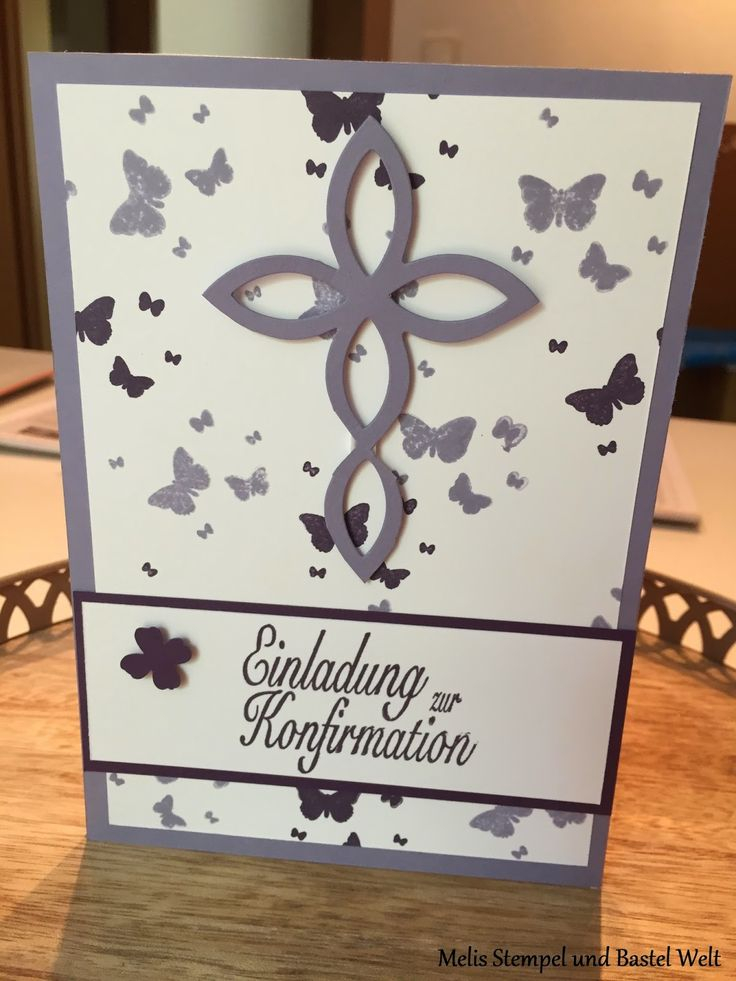 Stampin Up, Einladung, Konfirmation, Kommunion, Elegantes Gitter, Kreuz, Perpetual Birthday Calender