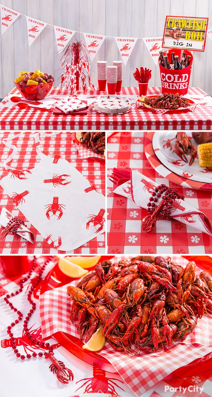 Put your claws up for crawfish cookout ideas – and dig in to our fave party theme for spring! Get serving ideas for spicy Cajun crawfish, buttery corn on the cob and hearty boiled potatoes. Party City knows how to throw a kickin' crawfish boil!