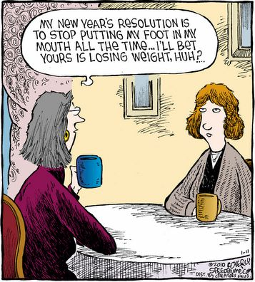Terry's Top 10 New Years Resolutions (maybe)   Oh, these are SO fantastic!!!  Gotta luv Terry Matlen.