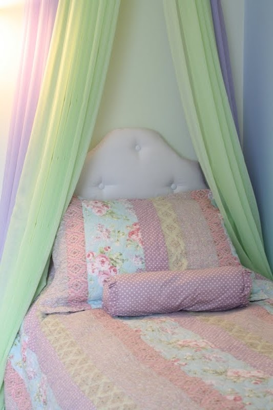 diy headboard, cute for a little girls room