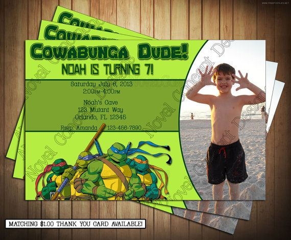 14 best ninja turtle invitations images on pinterest ninja diy teenage mutant ninja turtles invitation by novelconceptdesigns 995 solutioingenieria Images