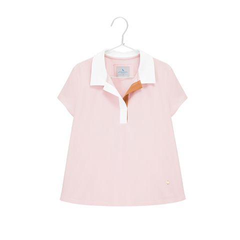 Cropped cotton top with a collar